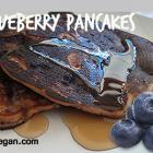 Vegan Whole Wheat Blueberry Applesauce Pancakes