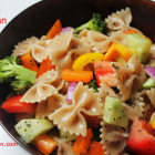 Colors of the Rainbow Vegan Pasta Salad