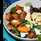 Sweet Potato, Goat Cheese and Almond Salad