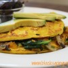 Eggless Vegan Omelette With Mushrooms and Spinach