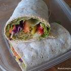 Vegan Spicy Hummus Veggie Wrap Sandwich