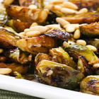 Roasted Brussels Sprouts with Pine Nuts