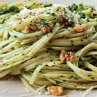 Broccoli Rabe/Walnut Pesto and Linguine