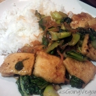 Baby Bok Choy and Tofu in Vegan Sweet and Tangy Sauce