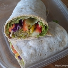 Vegan Spicy Hummus Veggie Wrap Sandwich