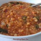 Red Lentil Vegetable Soup (Vegan)