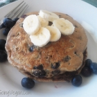 Vegan Whole Wheat Blueberry Banana Walnut Pancakes
