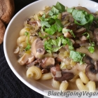 Vegan Pasta Recipe - Leek and Mushroom Pasta Sauce